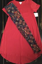 NWT Outfit UNICORN PAISLEY LuLaRoe OS Leggings & XS Red Carly Dress Top MODAL