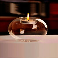 Glass Round Hanging Candle Tea Light Holder Party Bar Home Decor