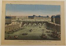 Le pont Neuf Paris vue d'optique XVIIIème siècle