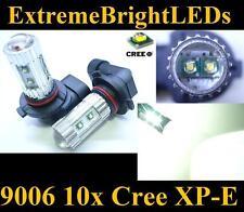 TWO Xenon HID WHITE 50W High Power 10x Cree XP-E 9006 9012 HB4 Fog Lights bulbs