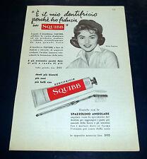 A181-Advertising Pubblicità-1958-DENTIFRICIO SQUIBB