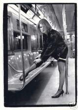 JENA on 6 Train NEW YORK Fashion Subway Photograph Transportation B & W POSTCARD