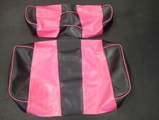 Yamaha Drive Golf Cart Deluxe Seat Covers-Front & Rear(Black/Pink-Piping)