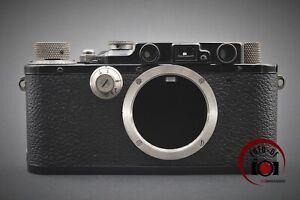 RARE!! Leica Leitz III Gehäuse, Nickel, black paint, Bj.1934  FOTO-DF // 210120