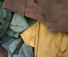 Scrap leather Upholstery hide 1/2 pound remnants mixed colors great deal
