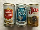Starter Pack for Collection Lone Star, Texas Pride, Jax Beer Cans Aluminum EMPTY