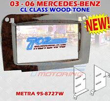 2003 - 2006 MERCEDES-BENZ CL CLASS DOUBLE-DIN RADIO STEREO INSTALLATION KIT