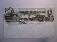 Ansichtskarte Coblenz / Koblenz 1906 Vollmond