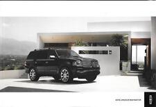 2016 16  Lincoln navigator  original sales  brochure