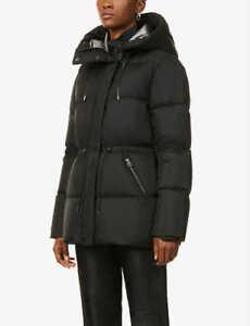 MACKAGE Freya Hooded Shell-Down Coat Black Size M Orig. $790 NWT