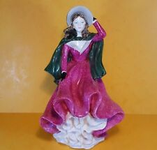 SCARCE COALPORT BONE CHINA FIGURINE LADIES OF FASHION WINTER'S MORN JOHN BROMLEY