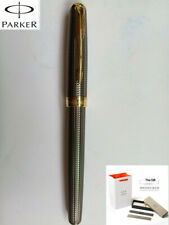 Parker Sonnet Cisele Silver Gold Clip Fine Nib Fountain Pen Fine Small Gift Box