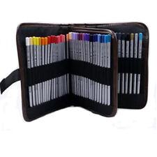 72Pcs Pen Pocket Brush Pencil Case Pouch Holder Makeup Storage Canvas Bag
