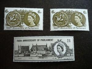 Stamps - Great Britain - Scott# 422-423 & 422p - Regular & Phosphor Issues