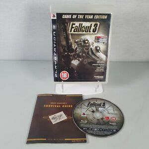 Fallout 3 Game of the Year Edition Playstation PS3 Video Game Manual PAL
