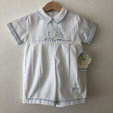 36df6e700 Vintage Deadstock Boys Sailor Romper Outfit Shortalls Size 18 Months Toddler