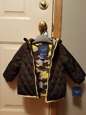 Boys Falls Creek 12 Months Puffy Coat Black yellow camo lining Warm Winter