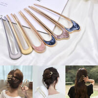 Vintage Metallic Hair Fork alloy U Shape Hair Clip Metal Hair Stick Hairpin Acc