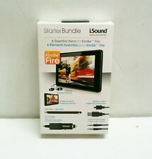 6 in 1 Starter Bundle for Kindle Fire Brand New Sync Cable, Ear Buds +++