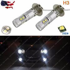 Max 50W 6000K High Power White H3 CREE LED Bulbs For Fog Lights Driving Lamp