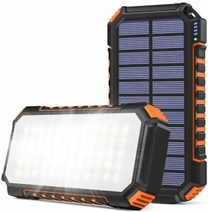 SOARAISE Solar Charger 26800mAh, Portable Solar Power Bank with 60 Bright LEDs
