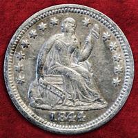 1844-O LIBERTY SEATED HALF DIME, *LARGE O* B-3037, V-1, PCGS XF, BETTER COIN!!!