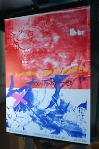 Vintage 1989 Offset 1st Asian Film Festival Asia Society Poster Rauschenberg