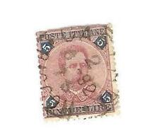 Regno d'Italia 1891-96 5L. carminio