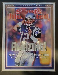 2001 Sports Illustrated Tom Brady Commemorative Edition Cover only. FIRST COVER