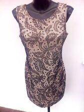 Lace Crew Neck Sleeveless Peplum Dresses for Women