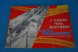 """RIVAROSSI 74830 I Treni """"HO"""" SISTEM Manuale Tracciati Elettrici Booklet"""