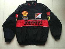 NEW UK Mens FERRARI Black Embroidery EXCLUSIVE JACKET suit F1 team racing//