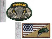 Green Beret US Army Special Forces Group Beret & SF Airborne Parachutist Wings