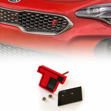 Front Grille Tuning GDI Turbo T Red Point Emblem Badge (Fits: KIA 2018+ Stinger)
