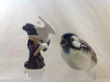 Hummel Goebel Bird Figurine with 1 other Stork or Heron damage to wing