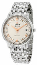 Omega De Ville Prestige Silver Dial Stainless Steel Automatic Mens Watch