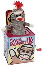 Schylling Toys Sock Monkey Jack-in-the-Box #SMJB - Plays Pop Goes The Weasel