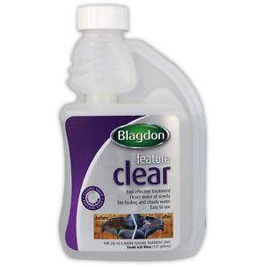 Blagdon Water Feature Clear 250ml Garden Fountain Cleaner Algae Sludge Remover