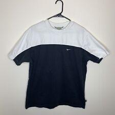Nike Mens L Black & White Swoosh Logo Short Sleeve Shirt
