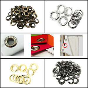 14mm - 20mm Iron Grommet Eyelets with Washers for Banners Making Tents Tarpaulin