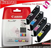 PACK INK CANON CLI 551BK 551C 551M 551Y ORIGINAL CARTRIDGE PRINTERS PIXMA