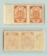 Latvia 1920 SC 78 MNH missing perf pair. f3052