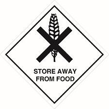 Health and Safety Hazard Sticker Store Away From Food Sticker White