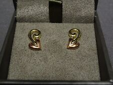 NEW Welsh Clogau 9ct Yellow & Rose Gold Tree Of Life Stud Earrings RRP £280
