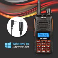 Baofeng GT-5TP 8W HP Dual PTT Two-way Radio Walkie Talkie > GT-3 + Win 10 Cable