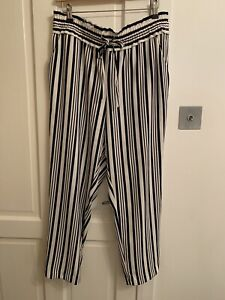 zara stripe trousers XL