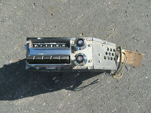 1953 -1954 PONTIAC CHIEFTAIN AM RADIO PUSH BUTTON MODEL # 984817