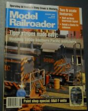 MODEL RAILROADER MAGAZINE AUG 1995 DETAIL SANTA FE CABOOSE MAKE TIGER STRIPES