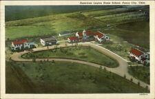 Ponca City Ok American Legion Home School Aerial View Postcard