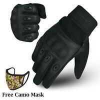WFX Carbon Fiber Hard Knuckle All Touchscreen Biker Motorbike Motorcycle Gloves